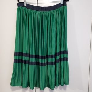 Eloquii green/blue pleated midi skirt 18/20